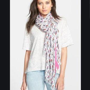 kate spade lipstick print scarf nwot